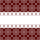 Red background with ornament. Vector background with ornament and white space Stock Photo