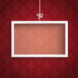 Red Background Ornaments White Frame Royalty Free Stock Photography