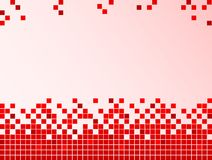 Red background with pixels Royalty Free Stock Photography