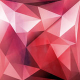 Red background with polygons Stock Photo