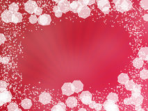 Red Background with rays Royalty Free Stock Image