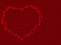 Red background with red decorative heart Stock Photography
