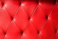 Red Background red sofa Stock Photo