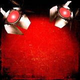 Red background with reflectors Royalty Free Stock Image