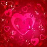 Red Background Represents Valentine Day And Affection Stock Image