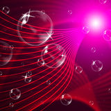 Red Background Represents Wave Bubble And Twist Royalty Free Stock Image