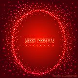 Red background with round frame from stars. Vector illustration. Red background with round frame from stars. Illustration for holidays merry christmas and new stock illustration