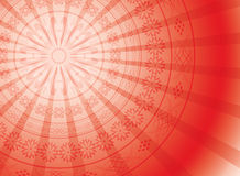 Red background with round ornament - vector Stock Photo