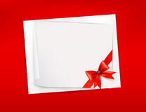Red background with sheet of paper Stock Photo