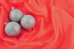 Red Background silver Stock Photos