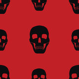 Red background with skulls Stock Photo