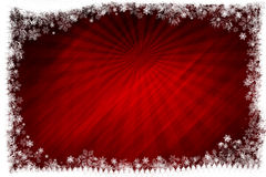 Red background with snowflakes Royalty Free Stock Images