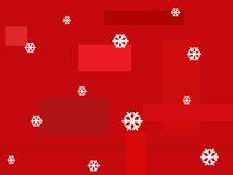 Red background with snowflakes Stock Images