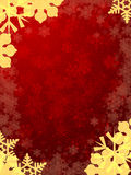 Red background with snowflakes Stock Photos