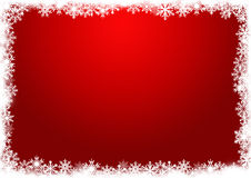 Red background with snowflakes Royalty Free Stock Photo