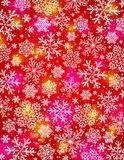 Red background with snowflakes, vector EPS10 Stock Image