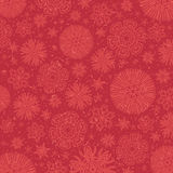 Red background with snowflakes, vector Royalty Free Stock Photos