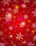 Red background with snowflakes, vector Royalty Free Stock Image
