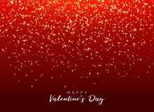 Red background with sparkle glitter for valentine`s day. Illustration royalty free illustration