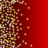 Red background with stars. Illostration royalty free illustration