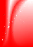 Red background with stars. Vector illustration royalty free illustration