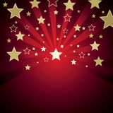 Red background with stars Stock Image