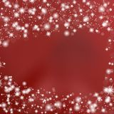 Red Background with Stars Stock Photo