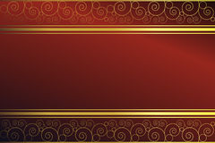 Red background with swirls Royalty Free Stock Photo