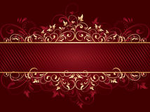 Red background with template. Background with decorative frame, illustration Royalty Free Stock Image