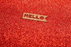 Text Hello on a red background Royalty Free Stock Images