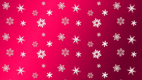 Snowfall Christmas. Happy New Year! 2018 RED Christmas. Winter Snow wallpaper. Snowfall. Snowy Red light background. Festive snowflakes banner. Happy New Year vector illustration