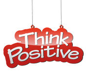 Red  background think positive Royalty Free Stock Images