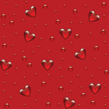 Red background with transparent hearted Stock Photography