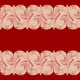 Red background with two borders Royalty Free Stock Photos