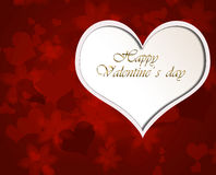 Red background with Valentine heart. royalty free stock photos