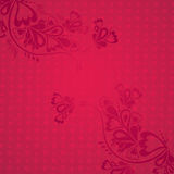 Red background with  valentine hearts,  vector Royalty Free Stock Photography