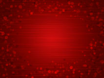 Red background for Valentine's day. Red background with hearts on Valentine's day Stock Photo