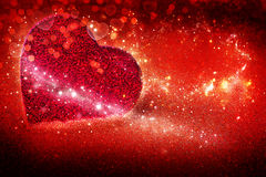Red background for Valentine`s Day. Hearts, red background for Valentine`s Day Stock Image