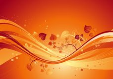 Red background, vector Royalty Free Stock Image