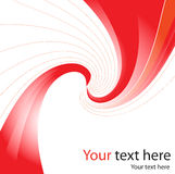 Red background whirlpool wave Royalty Free Stock Photography