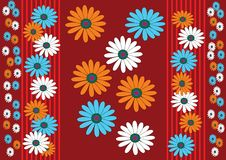 Red background whit flower Royalty Free Stock Photo