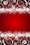 Red background with white floral decorations and s Royalty Free Stock Photos