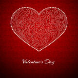 Red background, white heart Royalty Free Stock Photo