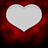 Red background with white heart Stock Photos
