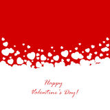 Red background with white hearts Stock Image