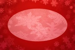 Red background with white snowflake. Illustration of red background with white snowflake Stock Photos