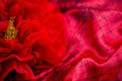 Free Red Background With Red Roses Net Royalty Free Stock Photography - 169928187