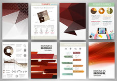 Red backgrounds and abstract concept infographics Stock Image