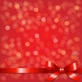 Red Backgrounds With Red Ribbon Royalty Free Stock Photos