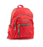 Red backpack isolated on white  Royalty Free Stock Photo